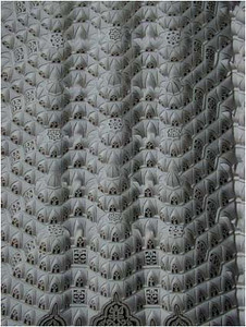 Intricate repeating patterns.