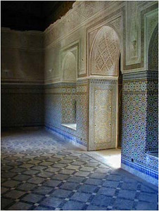 An interior hallway.