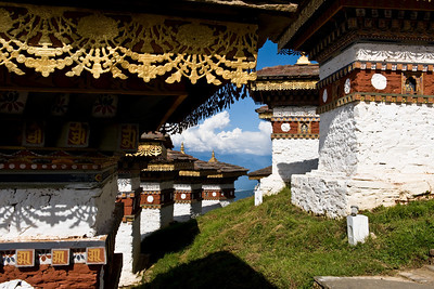 Each of the chorten are ruggedly constructed and lavishly decorated. this is a beautiful and peaceful site.