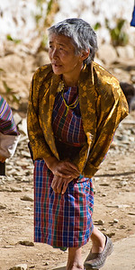 This Bhutanese woman was short, maybe 4 feet tall, and crippled. But she was spry, and gave off a happy and optimistic demeanor.