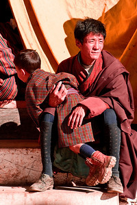 Children are children, wherever they are in the world, possessed of child-like attention spans. The Bhutanese national dress, at least for men, strikes me as similar to a Scottish kilt. Call me crazy!