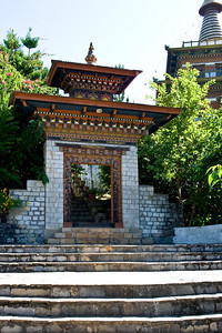 At the top of the trail, we enter the temple complex through this gate.