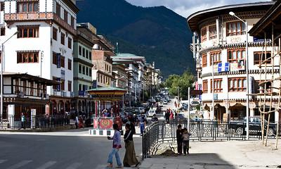 Thimphu's main street.