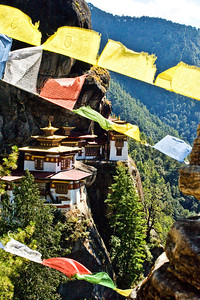 One of two photos from the chorten. In some ways I like this better because of the flags which provide context.
