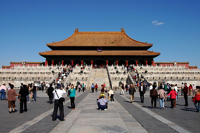While in Beijing we visited the Forbidden City. This palace is at the heart of Beijing. It was built beginning in 1420 and was home to the dynastic  imperial court and current emperor for the next 500 years. It was opened to the public in 1949.