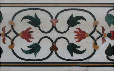 And here is an example of the inlaid marble I referred to above.
