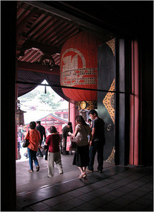 Standing just inside the shrine two pictures above and looking out the main door. I like this photo perhaps best of all.