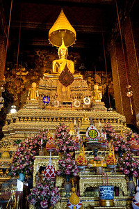 If memory serves, this is the Emerald Buddha. It was pretty dark in here so the picture isn't the best. And while the Buddha image is interesting, I found the decoration in the foreground to be more so.