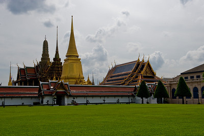 Our first real destination of the day was the Grand Palace, seen here from near the entrance gate.