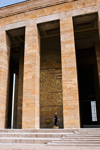 Ataturk's Mausoleum: It is a place of pilgrimage no less than the Jefferson Memorial in Washington DC.