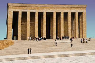 Ataturk's Mausoleum: Before the second world war, Ataturk came to power in Turkey and formed what would become a secular democracy. He is revered for this accomplishment and for setting the stage for Turkey to emerge into the modern world. His place would be roughly equivelent to Thomas Jefferson in American history.