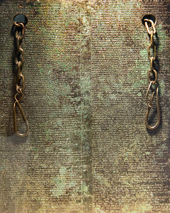 Museum of Anatolian Civilizations: A document made of metal and inscribed with ancient text.