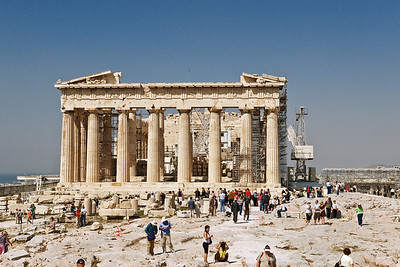Parthenon: Obviously under renovation which seems a hurculean undertaking.