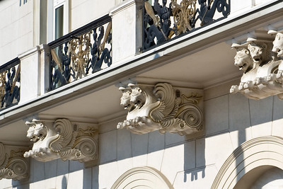 I really liked the supports for this balcony. They look like winged lions. Pretty neat.