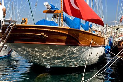 Kos: Boat in the harbor.