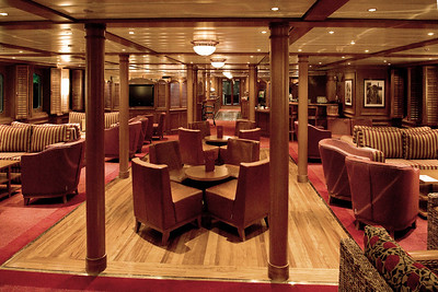 The lounge on our good ship Arethusa.
