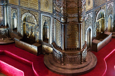 Topkapi Palace: A UNESCO World Heritage Site, Topkpi is the world's largest and oldest surviving palace and one of the world's richest museums. This photo is of a model of the palace, on exhibit in the museum.