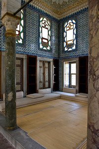 Topkapi Palace: Many of the palace buildings are open to visitors. They have been staged as they were during the Ottoman days.