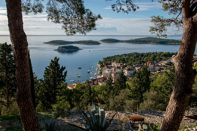 Hvar and other nearby islands.