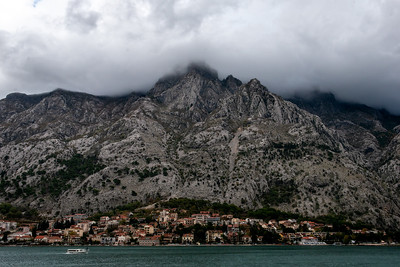 Kotor harbor and waterfront.
