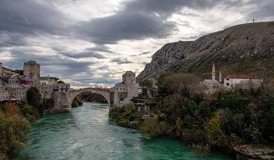 Reconstructed Mostar bridge.