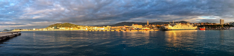 "Panorama of Split from the ""working"" part of the port."