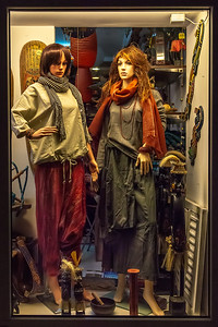 When I travel, I like looking at store front window displays. I find them interesting, sometimes giving clues to the culture (e.g. fashion). Interestingly, we observed no one dressed like this on the street. So I suspect this is Croatian chic for Spring.