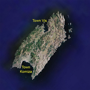 Island of Vis from Space