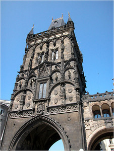 The 65m-tall Powder Tower is one of the Middle Ages vintage monuments. It was begun in 1475  to form one of the 13 entrances to the Old Town. In 1483 it was left unfinished because the king moved to Prague Castle. Between 1875 and 1886 the tower was rebuilt, and acquired its present name in the 17th century when it was used to store gunpowder. Today, there is a small exhibition about the tower and it is open for great views.