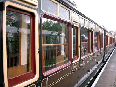 On our particular trip, the train contained 7 antique rail cars, each perfectly refurbished in their original design.