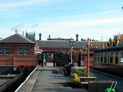 Kiddiminster station is the jumping off place for the Severn Valley railway. Turns out there are many steam locomotives that operate from here. You could join a holiday train excursion from here, or a brunch or dinner train and experience travel as it used to be.