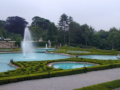 "Just behind the palace are some very nice manicured gardens. This one is known as the ""water garden."""