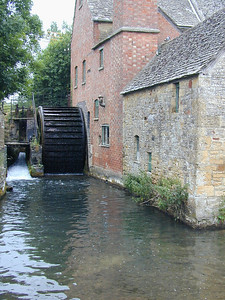 The names Upper and Lower Slaughter have nothing to do with turning Lambs into Lamb Chops. The villages are named after the Sloe tree (which used to be used to make sloe gin).  Here the platonic version of the English Mill, complete with water wheel and mill pond.