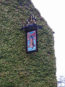 The Bell Inn sign.