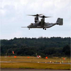 "The Osprey took 20 years and $19 Billion to develop. The program has been on serious probation most of its history. It can't autorotate (as a helicopter would) to a safe power off landing, has no defensive guns, lacks the ability to perform quick evasive combat maneuvers under fire and can't descend too quickly or it will go into a dangerous role. The program was nearly cancelled due to several fatal crashes during testing. These were due to a mysterious ""vortex ring state"" problem which some doubt has been fully resolved.  Hopefully they've got (or will get) the bugs worked out."