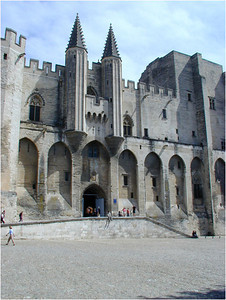 When the Papacy fled Rome due to the threat of war, it ended up here. The Popes of the time built a fabulous palace fortress, the Palais des Papes. I find it interesting that the Papal Palace is so forbidding. It seems to immortalize the spiritual separation between the holy and the unwashed masses.