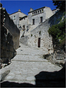 Here a narrow street leads up to the fortress.
