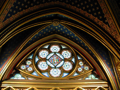 "The Eyewitness Paris guide says, St. Chapelle is ""ethereal and magical. [It] has been hailed as one of the greatest architectural masterpieces of the Western World.  ... Today, no visitor can fail to be transported by the blaze of light created by the 15 magnificent stained glass windows, separated by the narrowest of columns that soar ... to the star-studded, vaulted roof."" It was built in 1248."