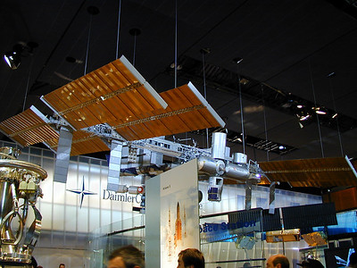The US Pavilion: Space Station Freedom model.