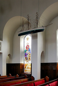 Akureyri: Curiously, there's a model ship hanging from the ceiling. It turns out to be a tradition in Iceland and Greenland to hang a ship in maritime churches to protect parish fisherman at sea. Go figure.