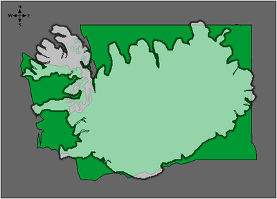 It's hard to tell from the first map the scale of the country. Here, I superimposed a map of Iceland over a map of Washington State (USA) where we live. This may give you a sense of scale.
