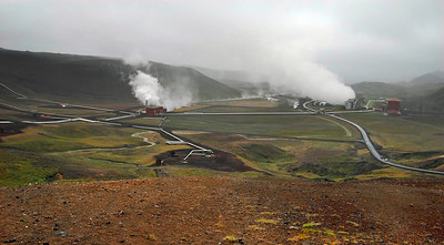 Mytvatn: The geothermal area which is very very cool (well, hot I guess) but cool nonetheless. The weather was a bit above freezing with strong winds and dramatic storm clouds. The colors of the rock, the steam and the sky make for dramatic pictures. I quite like this place in that regard.