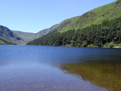 "Walking in Glendalough, I was delighted by the  clear, clean mountain lakes. This one was at the ""end of the trail."""