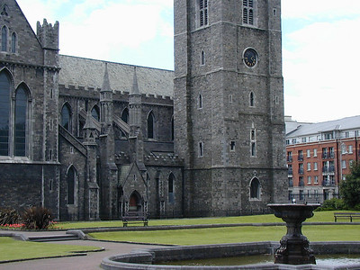 The cathedral is surrounded by a lush park. Along one wall is a series of tributes, shrines almost, to each of Ireland's famous authors.