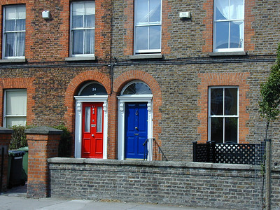Chalk it up to custom I guess. The doors of Ireland are the most vibrantly colorful in the world.