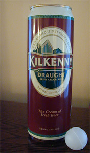 "Pick up a can of Guinness or Kilkenny Draught and it rattles. The label indicates the presence of a ""widget"" and encourages you not to shake the can prior to opening. Trust me ... take the good advice. When you open the can, you can hear a whizzing sound.  Curiosity got the better of me. I cut open a can to see what this widget was. Turns out, it's a plastic ball a little smaller than a ping pong ball, presumably pressurized, that foams the beer on opening to create the perfect head when you pour it.  What will they think of next?"