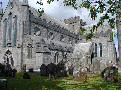 St. Canice's Cathedral is somewhat stark and foreboding, undoubtedly more so because of the thunderhead filled skies and peek-a-boo sunlight. I have the feeling this cathedral will still be here a thousand years from now.