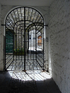This very pretty gated archway was just off the main street.