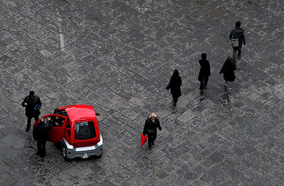 Cars: This was taken from the top of the Campanile looking down into the Piazza in front of the Duomo.