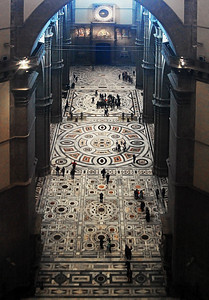 For my money, the floor of the Duomo, designed by Baccio d'Agnolo and Francisco da Sangallo in the 16th century,  is one of its best features.